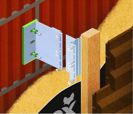 Fox_alu ilustracja montażu deski w układzie poziomym
