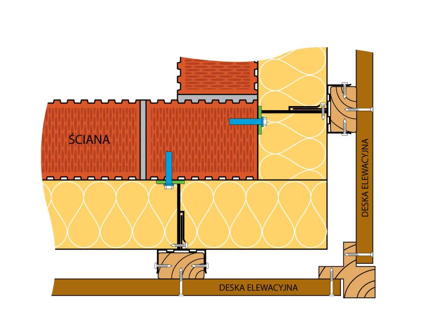 Fox_aluprzekrój poziomy ściany budynku
