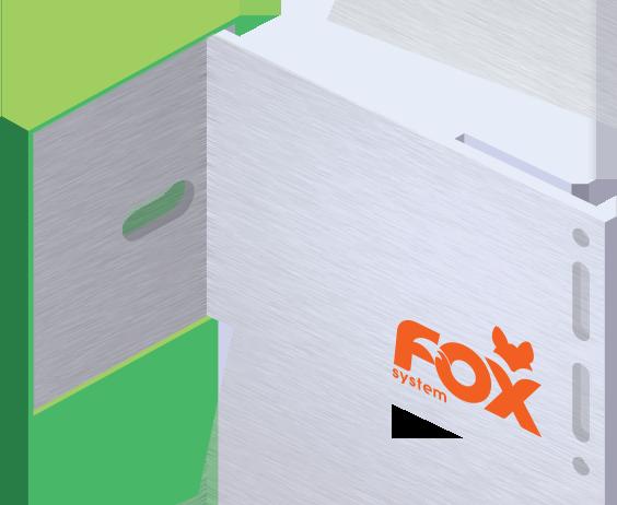 fox system Konsola główna z podkładką izolacyjną, mała, do deski w układzie poziomym