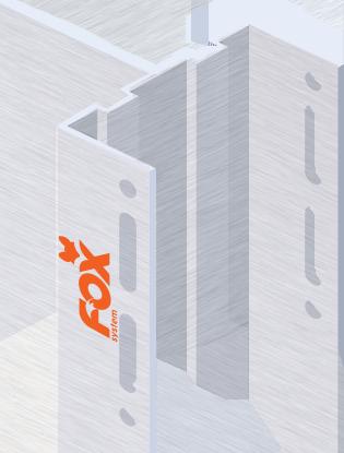 fox system Uchwyt do kantówki, mały, do deski w układzie poziomym i pionowym